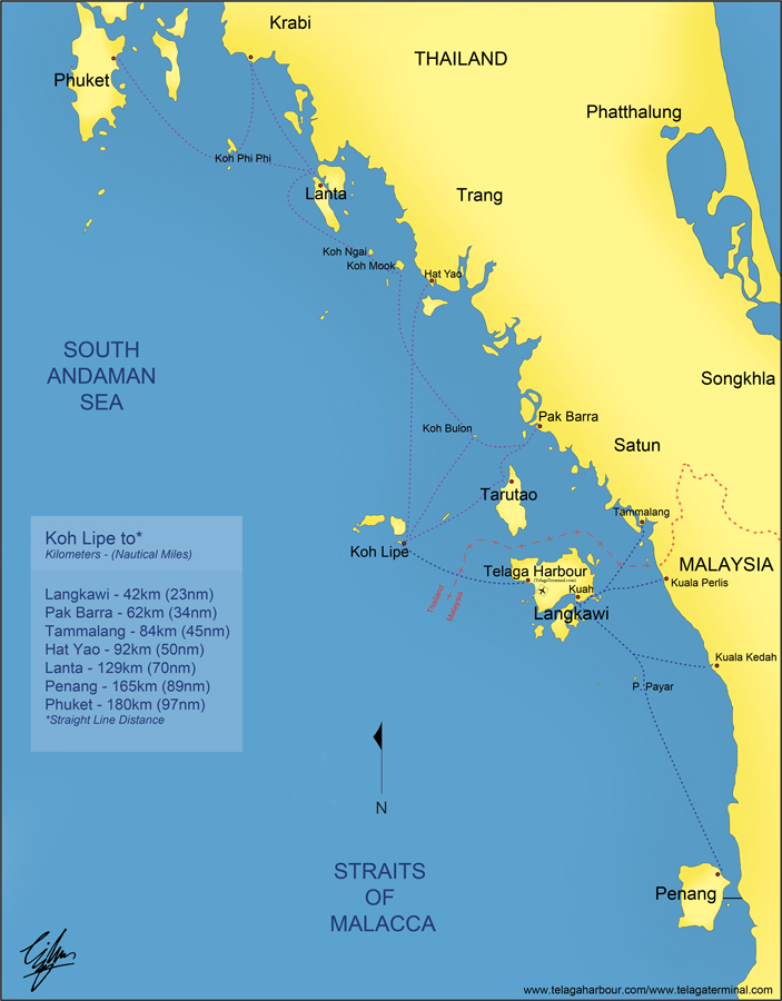 South Andaman Sea Route Map